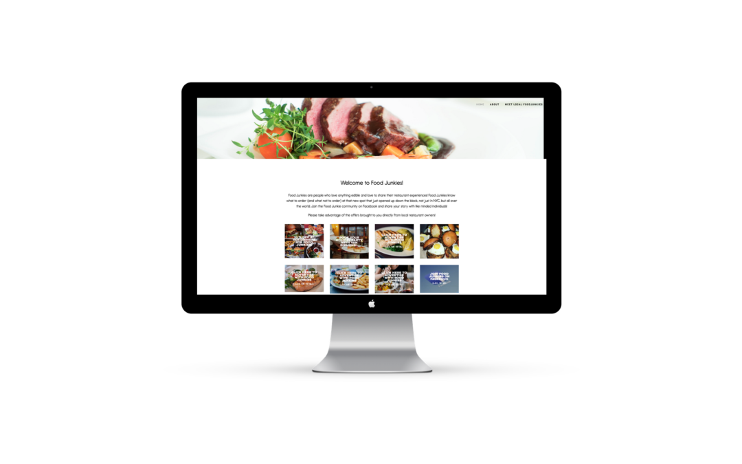 Web Design for Food Junkies NYC on Squarespace