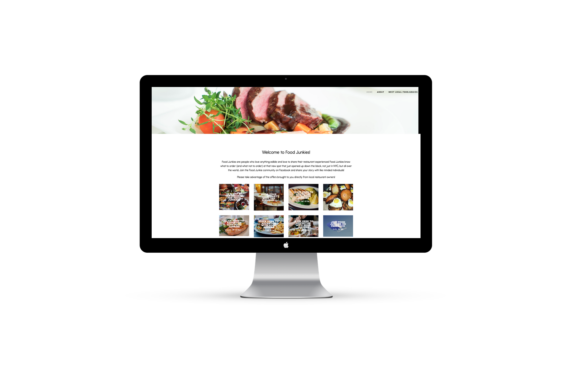 EYEBRANDIT PORTFOLIO WEB DESIGN - FOOD JUNKIES NYC 3