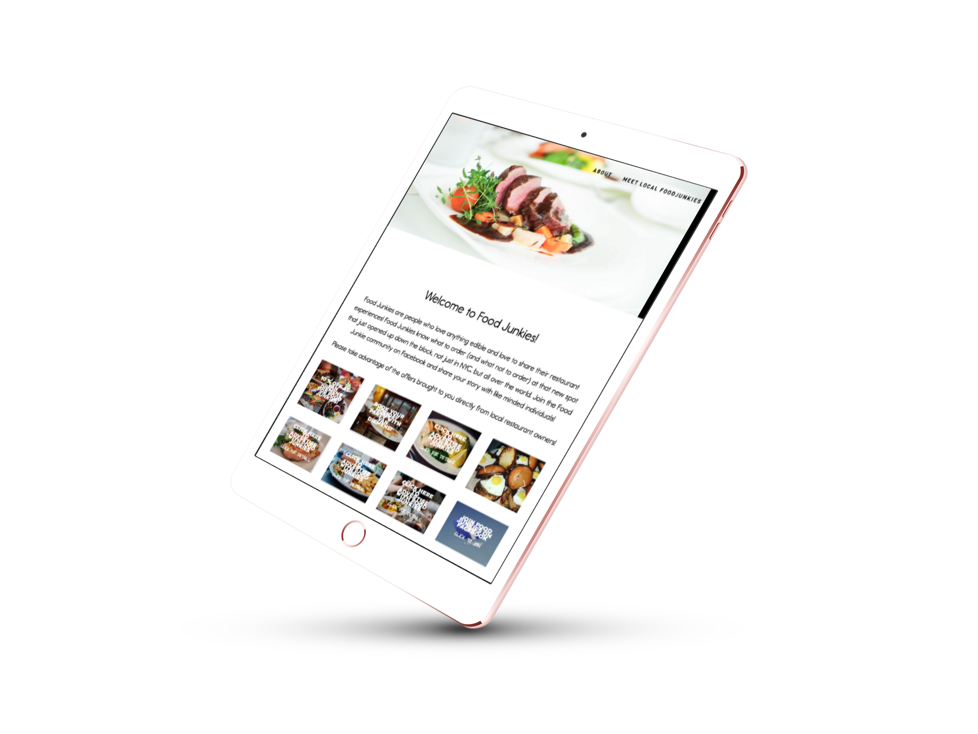 EYEBRANDIT PORTFOLIO WEB DESIGN - FOOD JUNKIES NYC 5