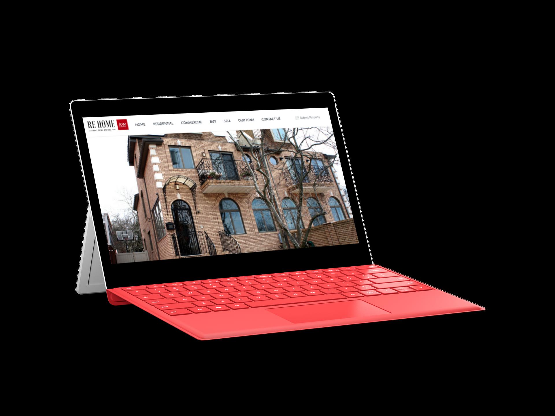 Web Design WordPress for RE Home NY Real Estate Brokerage by Inga Brel EYEBRANDIT
