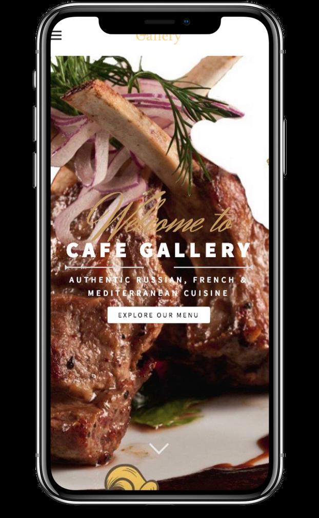 Web Design for Cafe Gallery in Brooklyn by Inga Brel EYEBRANDIT