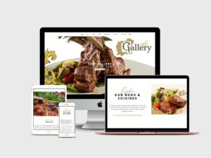 Web Design for Cafe Gallery in Brooklyn by Inga Brel EYEBRANDIT