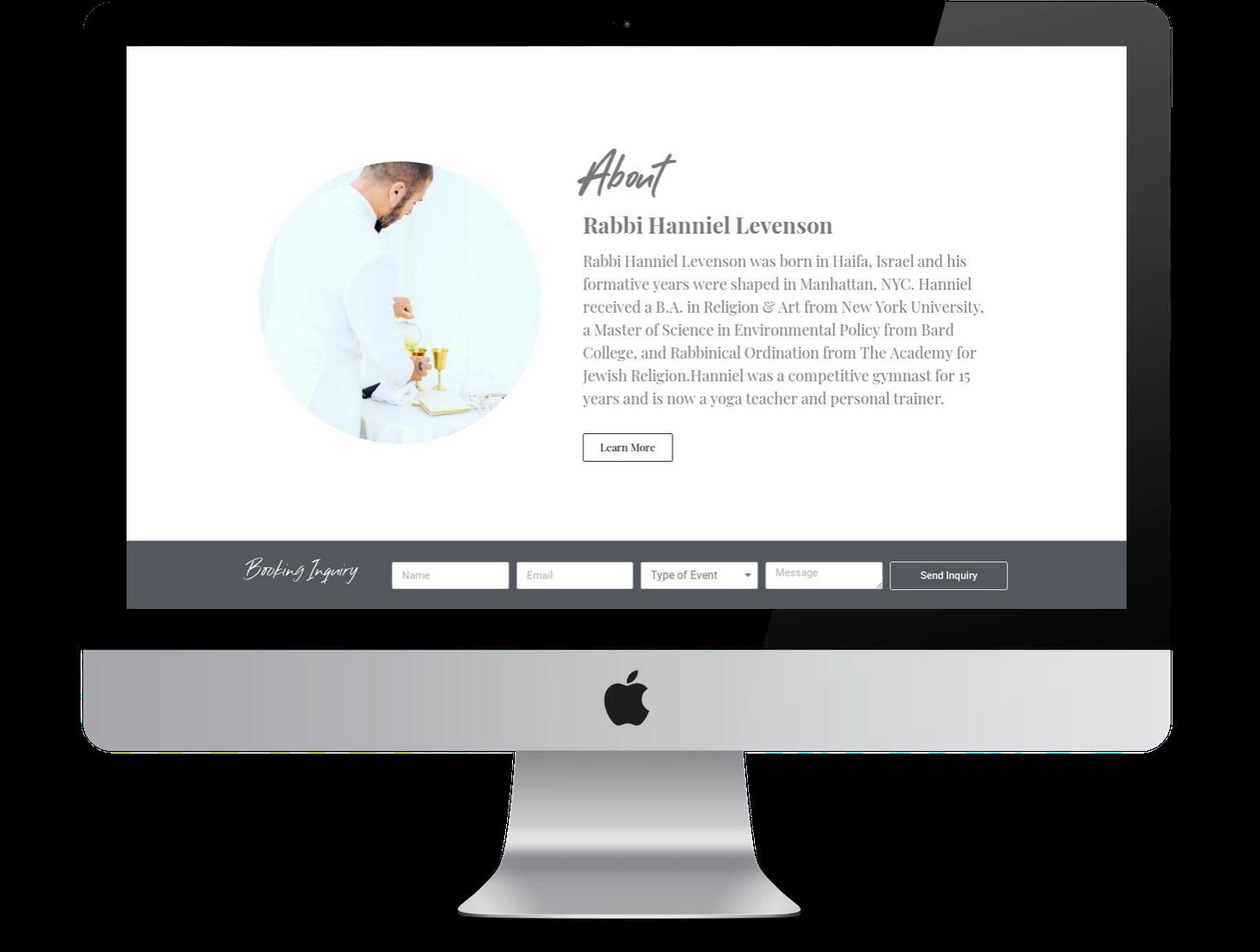 Web design wordpress for Rabbi Hanniel Levenson by Inga Brel EYEBRANDIT